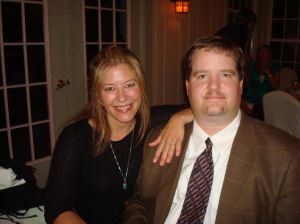 Lexi Reed Holtum, vice president of the Steve Rummler Hope Foundation, with high school sweetheart and fiance Steve Rummer, September 2010